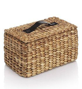 Water Hyacinth Rectangular Lidded Basket - Marks  Spencer- I love this! I want to make one, somehow. (Would I really have to grow my own Water Hyacinth?)