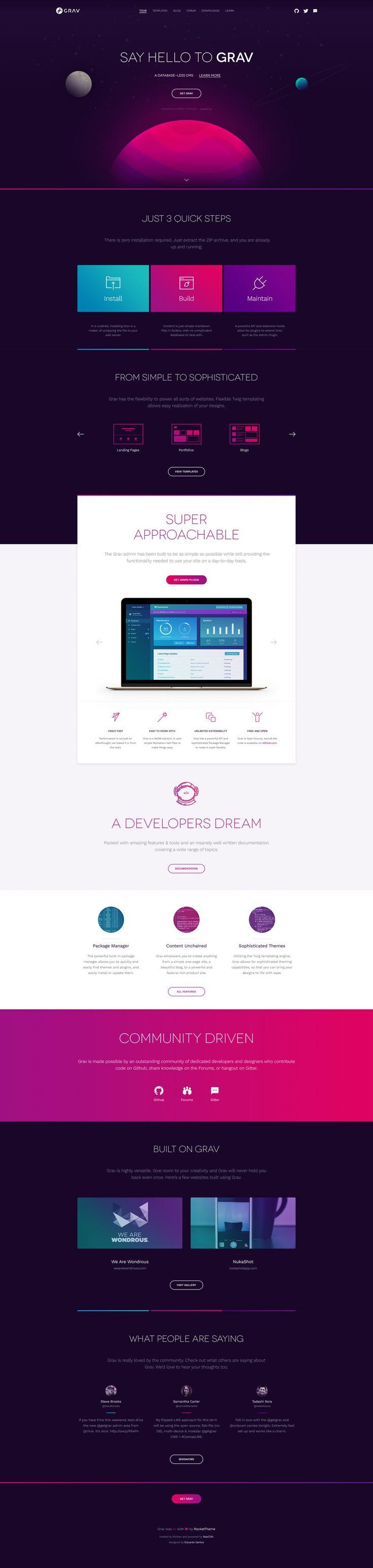 Grav - by Eduardo Santos   #ui #webdesign