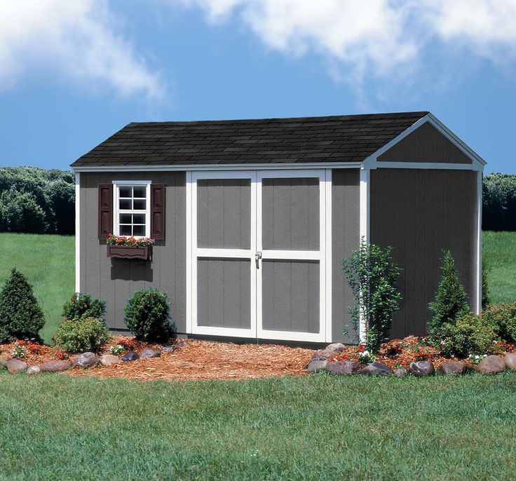 Colony Bay Outdoor Structures Augusta 10' x 12' Storage Building Kit with Floor - Lawn & Garden - Sheds & Outdoor Storage - Sheds & Storage ...