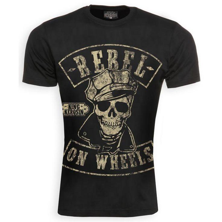 King Kerosin Vintage Rebel on Wheels Shirt. RebelMotorcycleMotorbikes