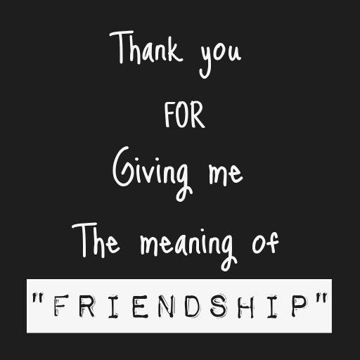 """Just a """"Friendship"""" thanks!"""