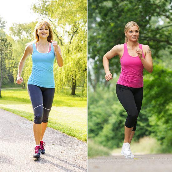 You Asked: 60-Minute Brisk Walk vs. 30-Minute Jog | POPSUGAR Fitness
