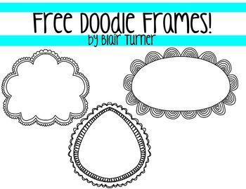 Free Doodle Frames - Blair Turner - TeachersPayTeachers.com