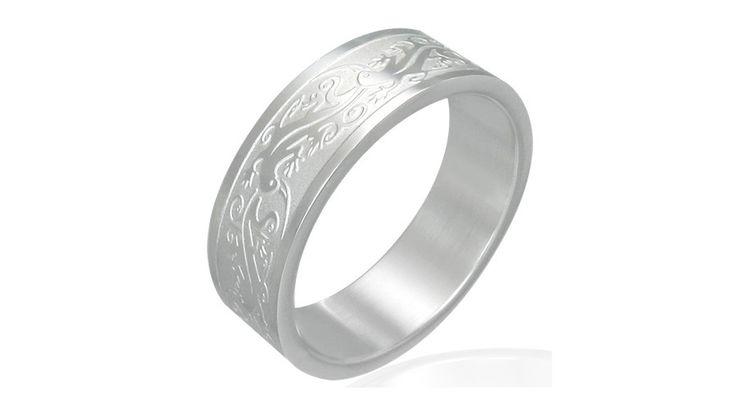 Mintás nemesacél gyűrű ékszer - Férfi gyűrűk - Nemesacél ékszer - Steeel nemesacél ékszer webáruház