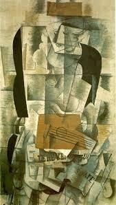 La Mujer con guitarra fue pintada por Braque en 1913 y es de la época analista del cubismo. Este estilo destaca porque las formas y figuras son representadas a través de conos, cilindros o pirámides. Los autores analizaban detalladamente las obras, quebraban los planos delanteros en figuras geométricas, solían utilizar los colores naturales de las cosas (aunque a veces ocres y grises), y pintaban como pensaban, no como veían. He elegido esta obra porque me parece muy interesante.