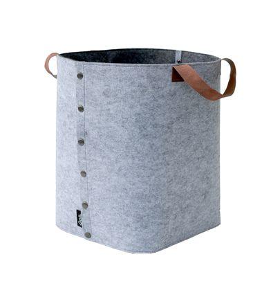 Sne Design grey felt storage box with leather straps