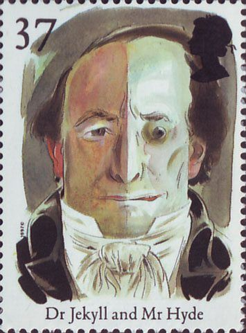 Europa. Tales and Legends. Horror Stories 37p Stamp (1997) Dr Jekyll and Mr Hyde