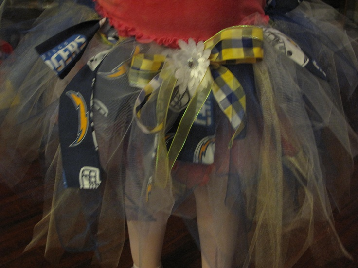 SD Chargers Tutu, i'm going to make this for maddie
