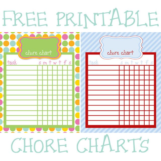 18 Best Chore Charts Images On Pinterest | Free Printable Chore