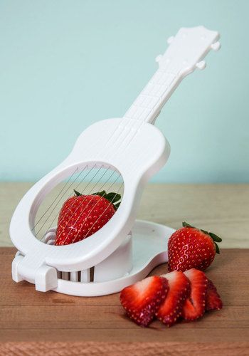 Tropical Tunes Slicer - White, Quirky, Music, Good, Solid, Wedding, Under $20