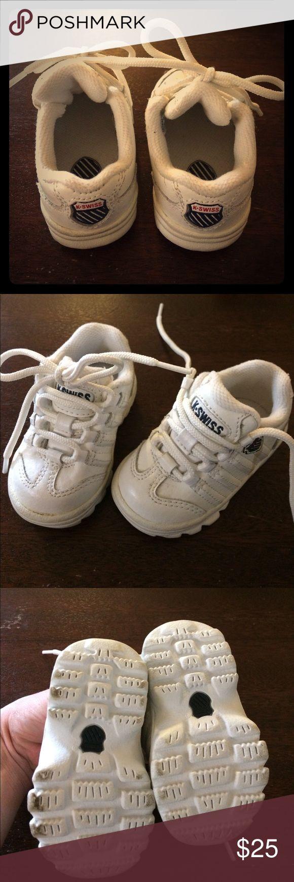 Infant/ Size 2 K Swiss Sneakers (White) Very cute, baby K Swiss sneakers. Infant size 2. Great condition. K Swiss Shoes Baby & Walker