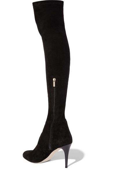 Jimmy Choo - Toni Stretch-suede Over-the-knee Boots - Black - IT