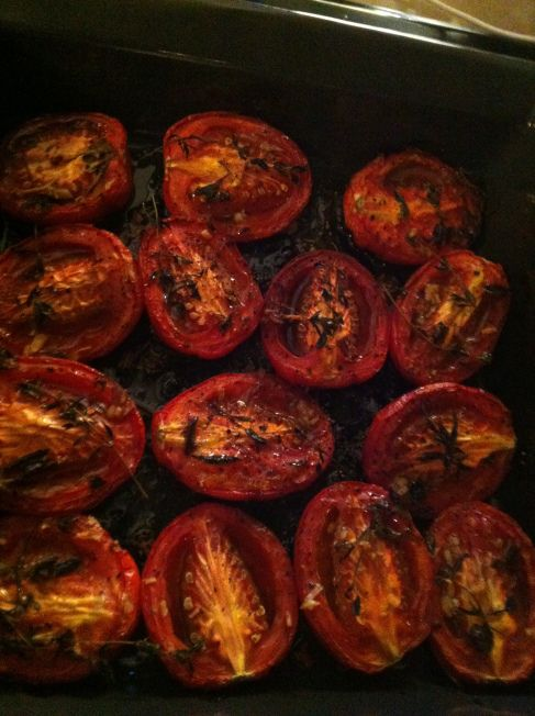 day five: slow roasted tomatoes | Roasted Tomatoes, Tomatoes and ...