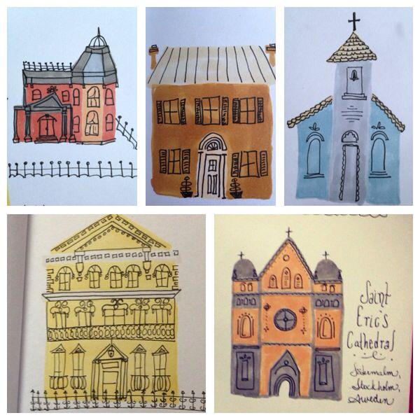 Little architectural doodles.