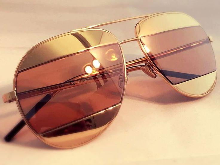 MONTAGGIO SPECIALE -#Occhiale #Dior Split1. Noi lo abbiamo realizzato graduato! - #Lenti #oftalmiche: Smart SV - Trattamento GLACIER + GHOST SILVER su colorazione BROWN - odx + 2,50 + 0,75 ; - ASSE 85° pd 31,5 , h 21 - osx + 3,25 + 0,50 ; - ASSE 90° pd 34,5 h 21 - Tipo di montaggio: NYLOR FILO METALLO  #ottici #ottica #optometristi #optometria #occhiali #lenti #rx #oftalmiche