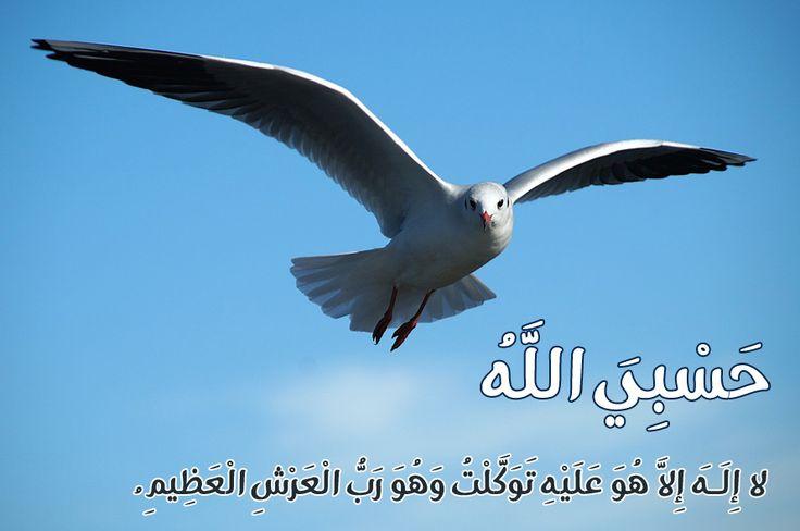 حسبى الله لا اله الا هو عليه توكلت وهو رب العرش العظيم  #اذكار #قران #الله #prayers #Allah #islamic #quotes #verse #religion #ذكر