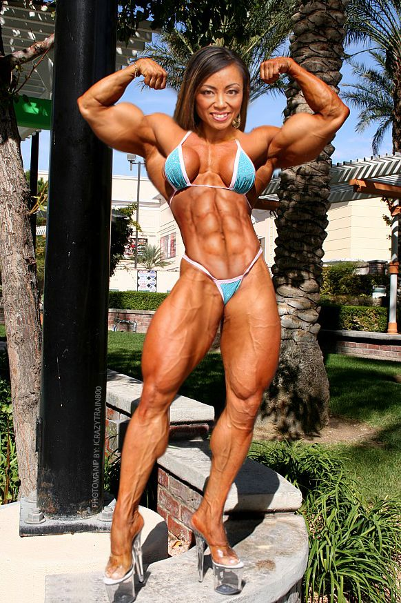 asian female muscle naked