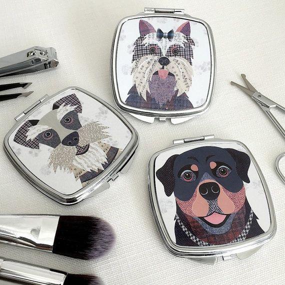Espejo compacto 54 para perros diseños grupo por SimonHartArtist