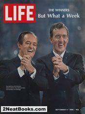 Hubert H. Humphrey and Edmund Muskie  life magazine cover: 6 Sep 1968