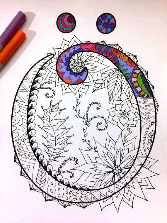 Letter Ö Zentangle  Inspired by the font