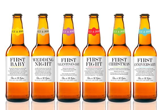 Custom Married First Beer Labels  Unique Wedding by StudioBLabels