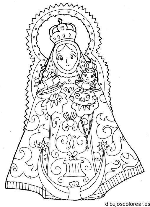 54 Best Images About Bordado Religioso Religious Our Of Guadalupe Coloring Page