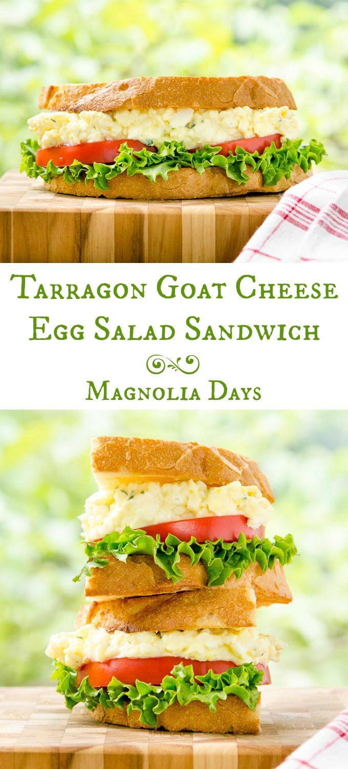 Tarragon Goat Cheese Egg Salad Sandwich stands above the ordinary ...