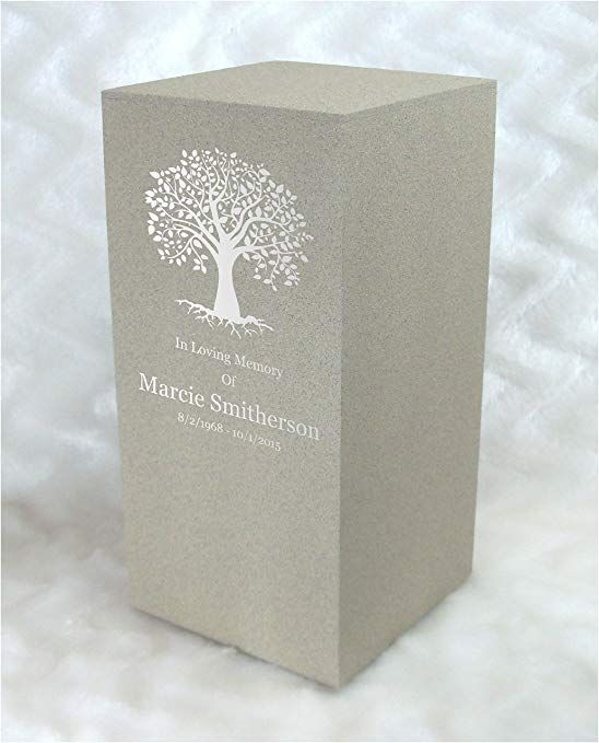 c076eb26b72bf PERSONALIZED Engraved Tree of Life Cremation Urn for Human Ashes ...