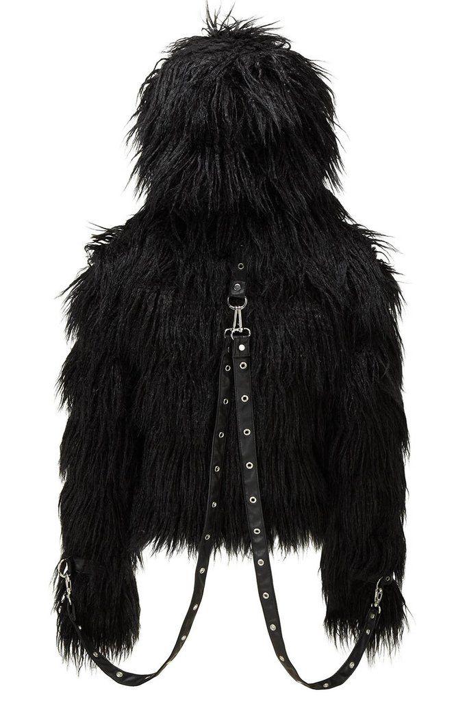 Glampire Black Absinthe Fur Jacket [B]