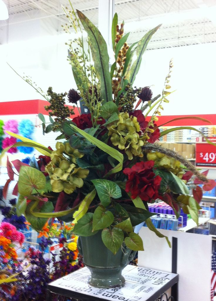 70 best floral arrangement images on pinterest miniature for Fall fake flower arrangement ideas