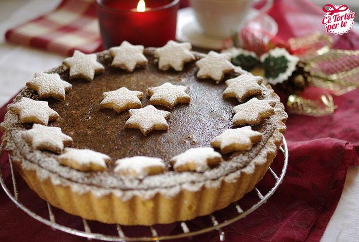 Crostata dal cuore morbido di cioccolato ed amaretti || Ecco il dolce perfetto per #Natale.