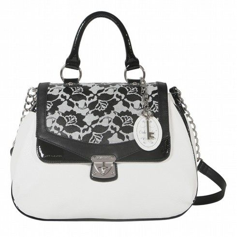 Ooh La La - Ooh La La Bags | Oohlala Handbags | Oohlala Designer Handbags | Oohlala Accessories | Oohlala Jewellery - OL-0271 FLORENCE LACE FLORAL TOP HANDLE BAG