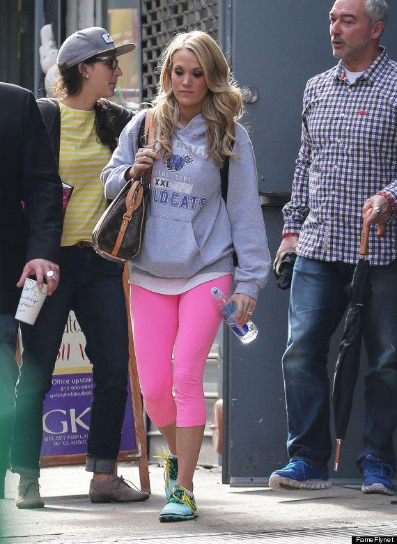 Carrie Underwood Rocks Pink Spandex At Gymnastics Class