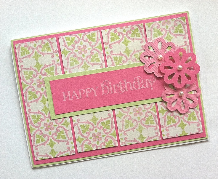 Birthday Card, Pink Birthday Card, Birthday Card for Women or Girls. $3.00, via