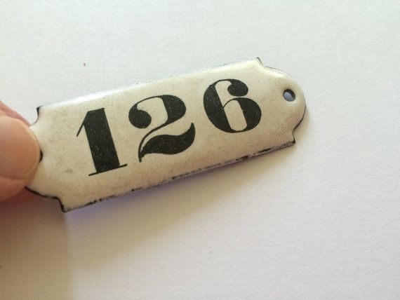 Vintage French Enamel House Number Plate by CRumpffCollectibles - Best 25+ House Number Plates Ideas On Pinterest Address Numbers
