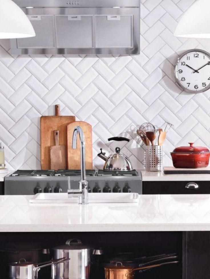 Azulejos biselados en la cocina | Estilo Escandinavo