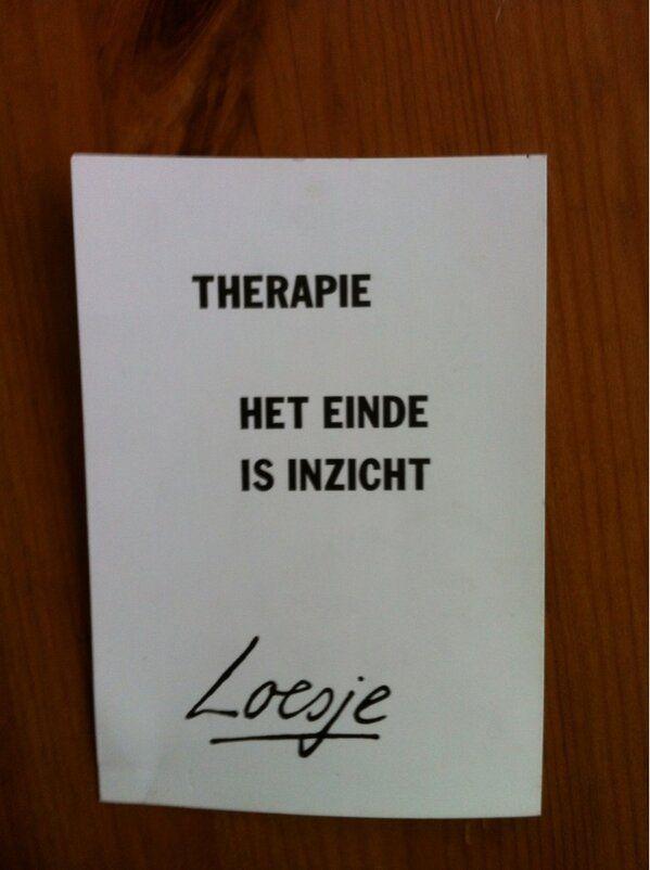 Therapie het einde is inzicht #Loesje