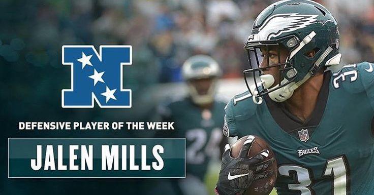 Jalen Mills is your NFC Defensive player of the week! - 3 Tackles  1 TFL 1 Pass Deflection 1 Pick Six ___________________________________________ #philadelphiaeagles #eagles #philly #phillysports #flyeaglesfly #game #eaglesnation #week8 #nfl #football #eagles #win #beat49ers #phivssan #wentzylvania #gameday #sanfranvsphi#carsonwentz #goat #wentzwagon #birdgang #eagles4life #birdgang4life  #green #NFCeast #ballgame #NFC #victory #jalenmills #NFCdefense