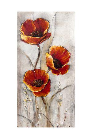 Flores rojas (arte decorativo) Posters en AllPosters.es