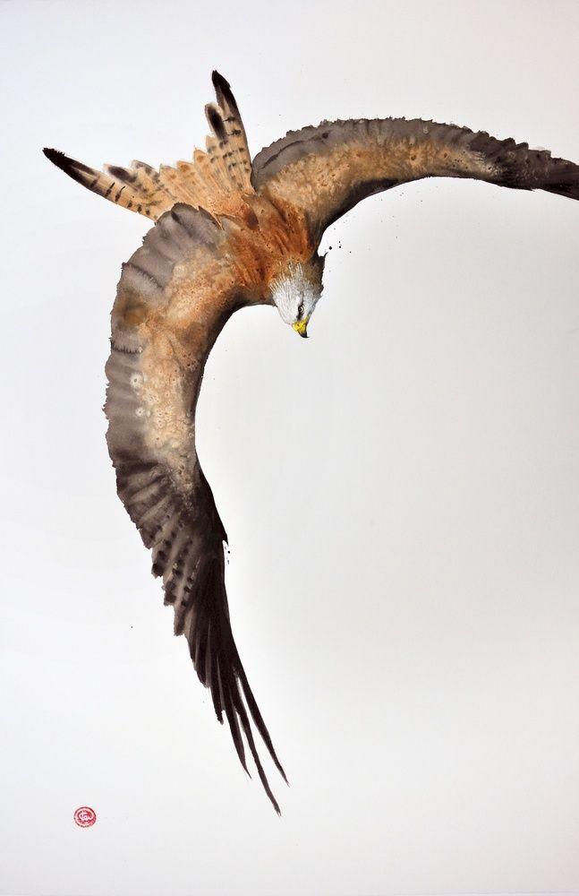 Karl Martens, Red Kite III | Cricket Fine Art