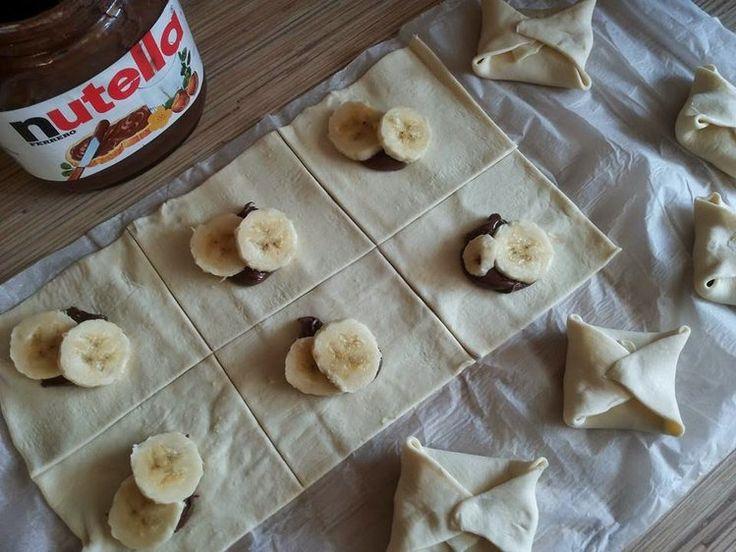 Koperty z nutellą i bananem