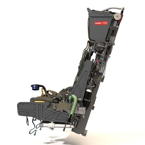 martin baker mk10 ejection seat 3d model max fbx lwo lw lws ma mb lxo lxl 5