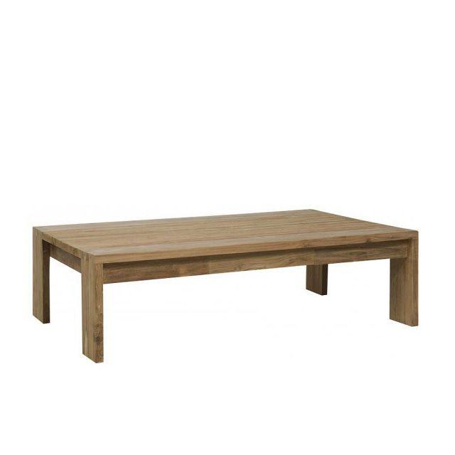 Прямоугольный стол из тика с двумя небольшими ящиками. Возможен в размере 120             Метки: Журнальный стол.              Материал: Дерево.              Бренд: Teak House.              Стили: Скандинавский и минимализм.              Цвета: Коричневый.