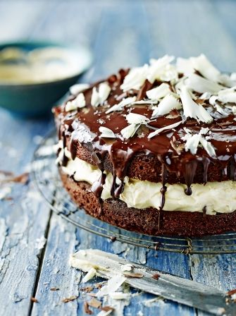 The chai infused layer in this chocolate chai sandwich cake recipe from Jamie Oliver really ups the ante, making it the perfect spiced chocolate treat.