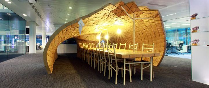 Pupa habitat in Bloomberg office by Lazerian, London office design
