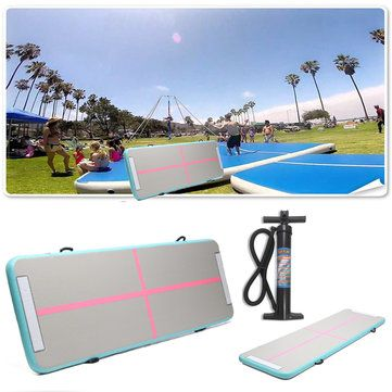 118x35x4inch Air Track Home Inflatable Gymnastics Tumbling Mat Yoga Training Pad  #sports #outdoor #fitness