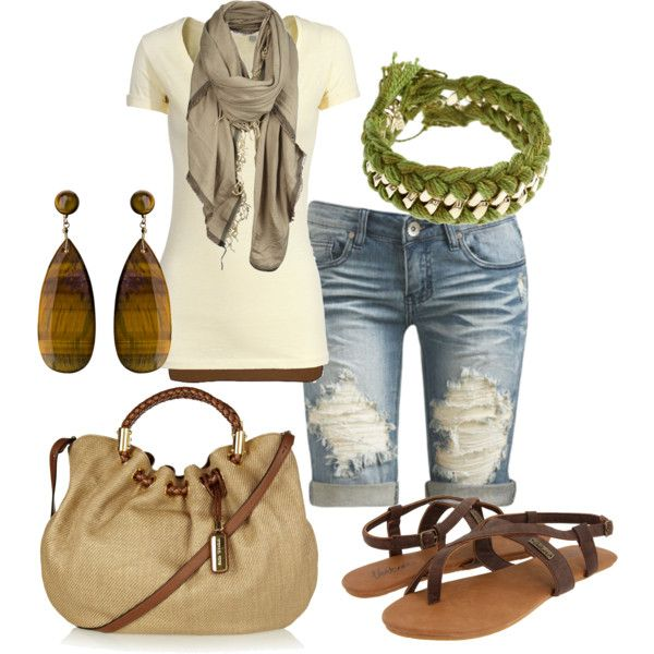 Tiger's Eye, created by miranda7rose.polyvore.com: Ideas, Fashion, Tiger Eyes, Casual Style, Casual Outfit, Summer Outfit, Clothing, Closet, Tigers