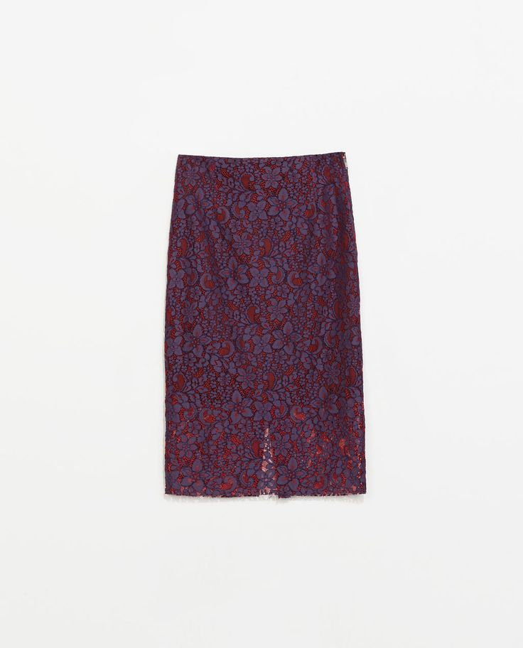 Image 7 of LACE PENCIL SKIRT from Zara