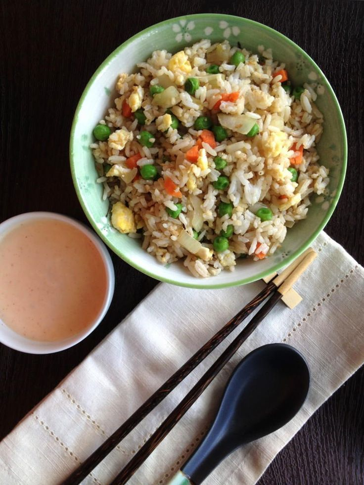 Hibachi-Style Fried Rice with Yum Yum Sauce | AllFreeCopycatRecipes.com