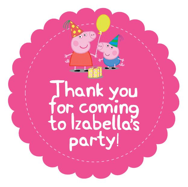 Peppa Pig party box stickers